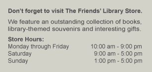 Visit the Friends' Library Store